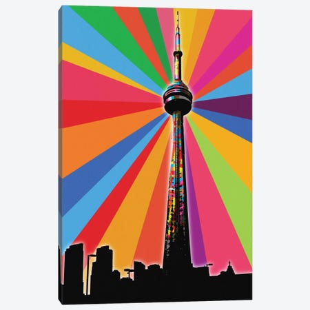 CN Tower Psychedelic Pop Canvas Print #ICA653} by 5by5collective Canvas Print