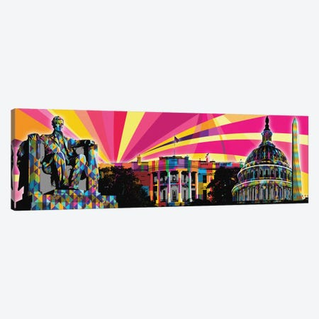 DC Psychedelic Pop Canvas Print #ICA654} by 5by5collective Canvas Artwork