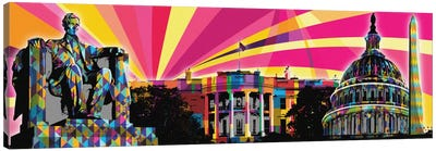 DC Psychedelic Pop Canvas Art Print