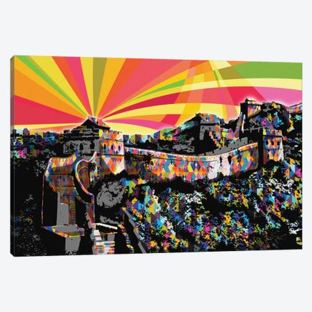 Great Wall of China Psychedelic Pop Canvas Print #ICA656} by 5by5collective Canvas Art
