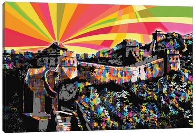 Great Wall of China Psychedelic Pop Canvas Art Print