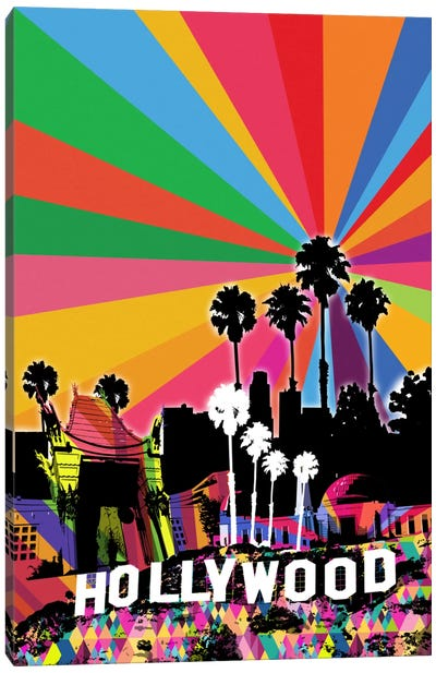 Los Angeles Psychedelic Pop 2 Canvas Art Print