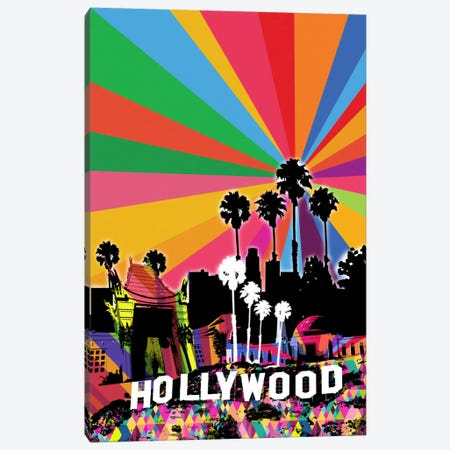 Los Angeles Psychedelic Pop 2 Canvas Print #ICA660} by 5by5collective Canvas Artwork
