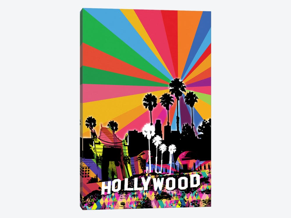 Los Angeles Psychedelic Pop 2 by 5by5collective 1-piece Canvas Artwork