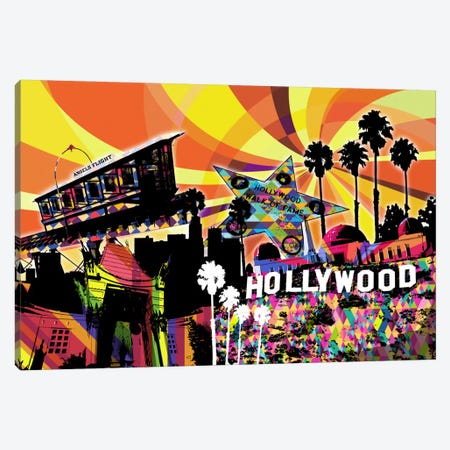 Los Angeles Psychedelic Pop 3 Canvas Print #ICA661} by 5by5collective Canvas Artwork