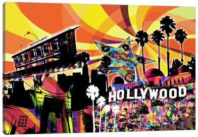 Los Angeles Psychedelic Pop 3 Canvas Art Print