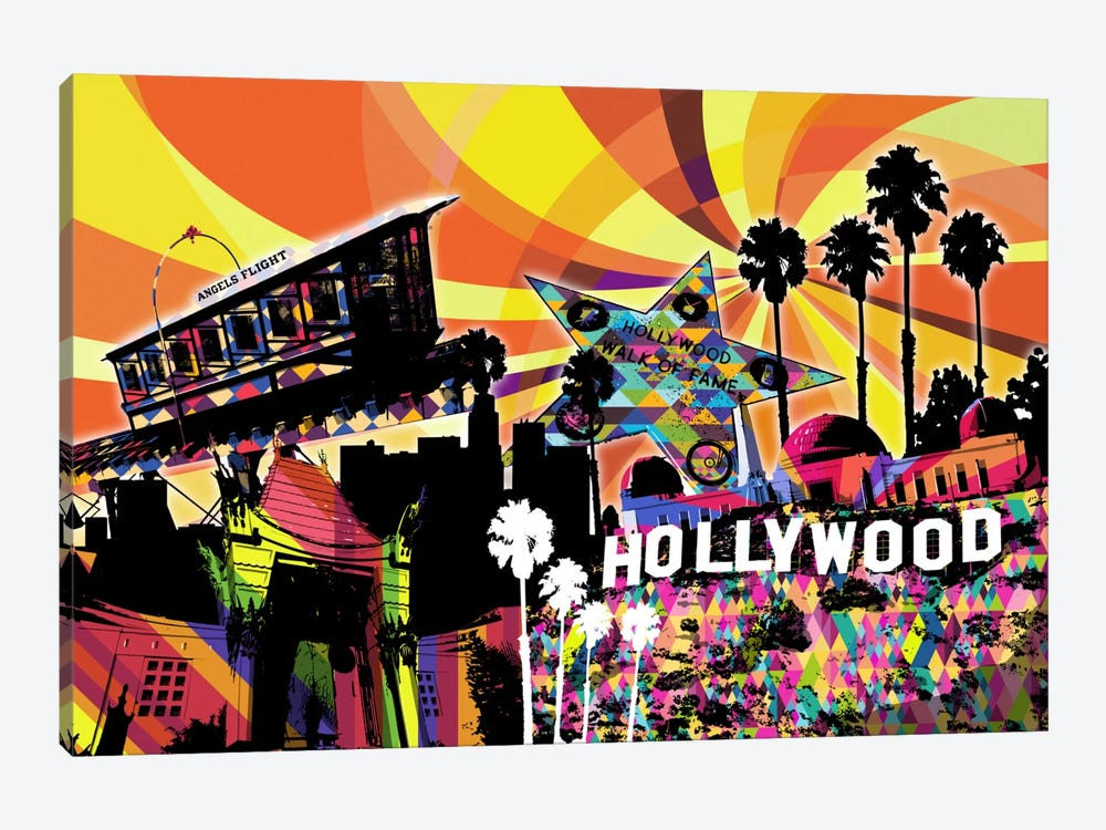 Los Angeles Psychedelic Pop 3 by 5by5collective 1-piece Canvas Print