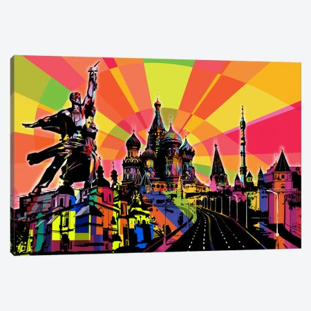 Moscow Psychedelic Pop Canvas Print #ICA662} by 5by5collective Canvas Art