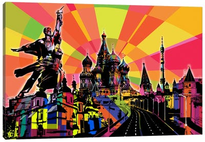 Moscow Psychedelic Pop Canvas Art Print