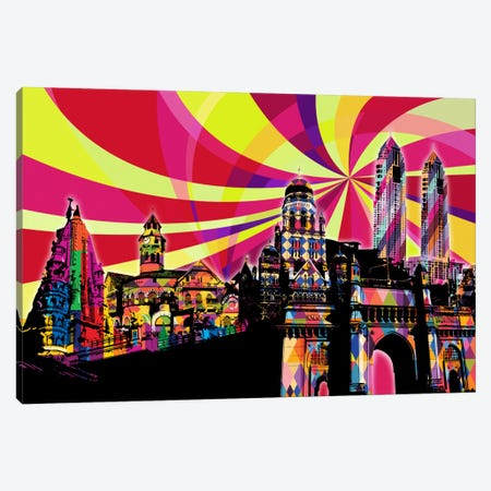Mumbai Psychedelic Pop Canvas Print #ICA663} by 5by5collective Canvas Art