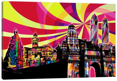 Mumbai Psychedelic Pop Canvas Art Print