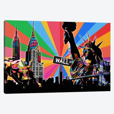 New York City Psychedelic Pop Canvas Print #ICA664} by 5by5collective Canvas Art Print
