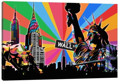 New York City Psychedelic Pop Canvas Art Print