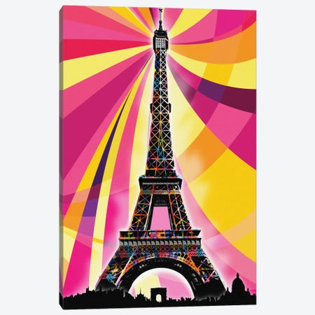 Paris Psychedelic Pop Canvas Print #ICA665} by 5by5collective Canvas Art Print