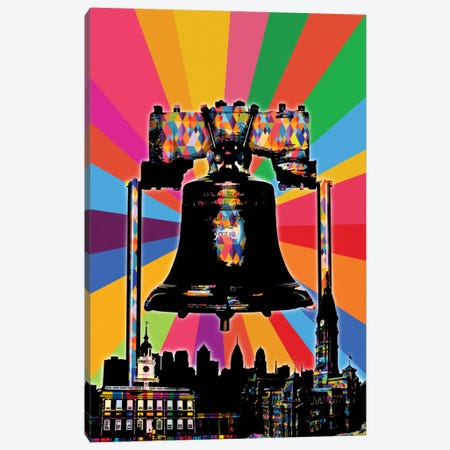 Philadelphia Psychedelic Pop Canvas Print #ICA666} by 5by5collective Canvas Art Print