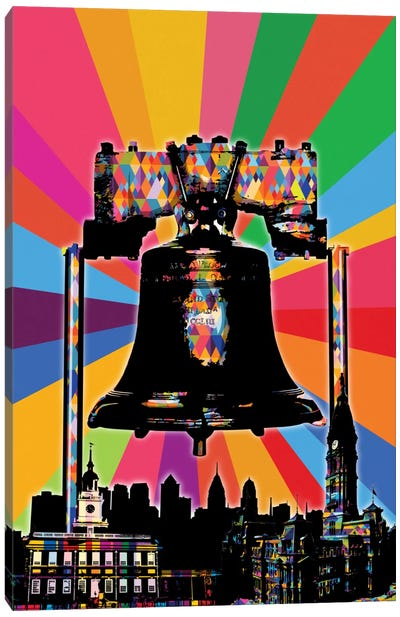 Philadelphia Psychedelic Pop Canvas Art Print