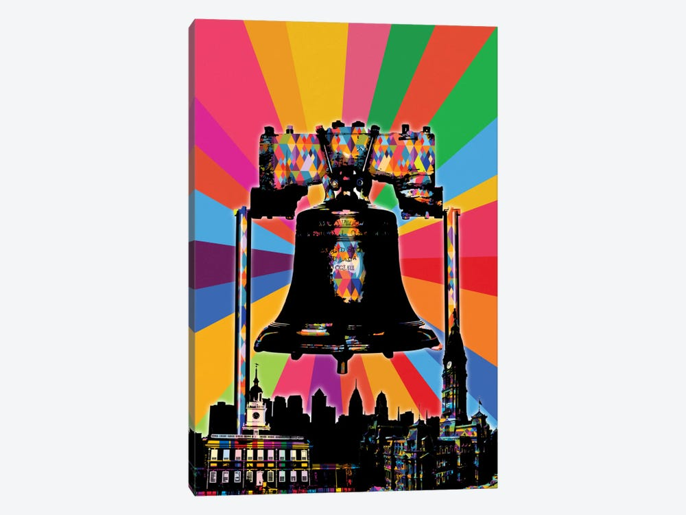 Philadelphia Psychedelic Pop by 5by5collective 1-piece Canvas Art