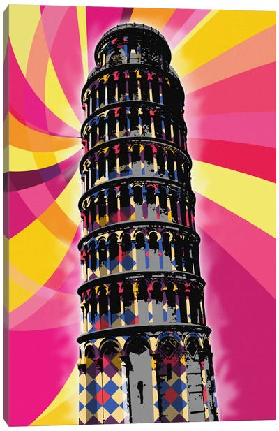 Pisa Psychedelic Pop Canvas Print #ICA667