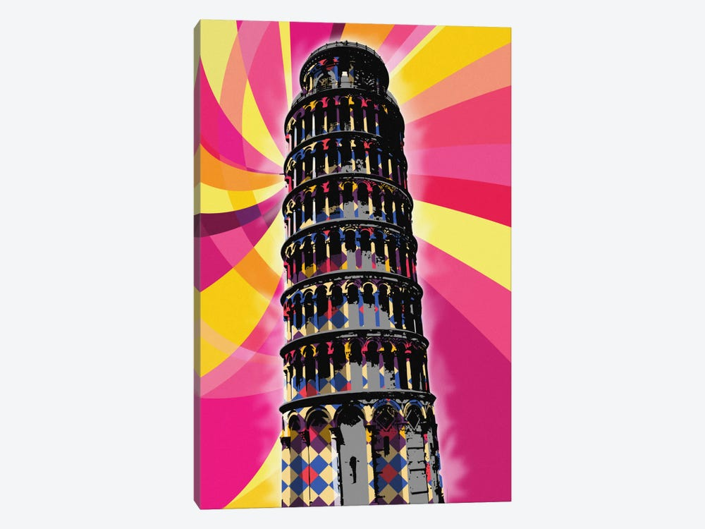 Pisa Psychedelic Pop by 5by5collective 1-piece Canvas Print