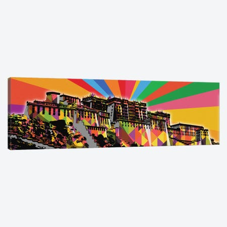 Potala Palace Psychedelic Pop Canvas Print #ICA668} by 5by5collective Canvas Wall Art