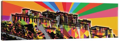 Potala Palace Psychedelic Pop Canvas Art Print
