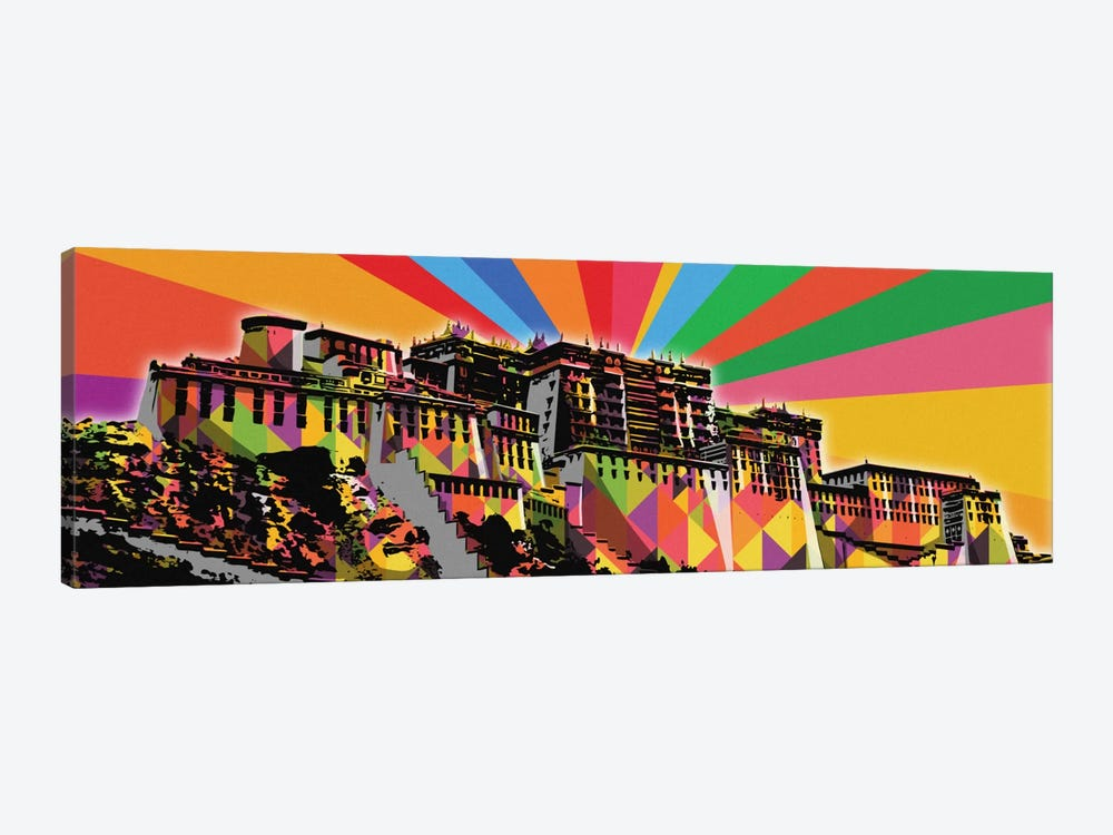Potala Palace Psychedelic Pop by 5by5collective 1-piece Canvas Wall Art