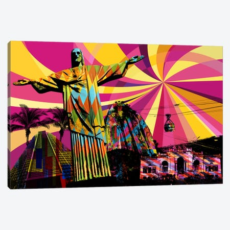 Rio Psychedelic Pop Canvas Print #ICA669} by 5by5collective Canvas Artwork