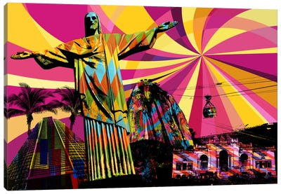 Rio Psychedelic Pop Canvas Art Print