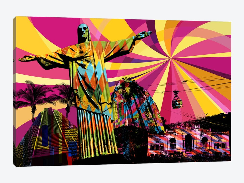 Rio Psychedelic Pop by 5by5collective 1-piece Art Print