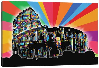Rome Psychedelic Pop Canvas Art Print