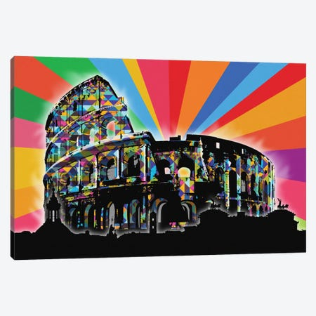 Rome Psychedelic Pop Canvas Print #ICA670} by 5by5collective Art Print