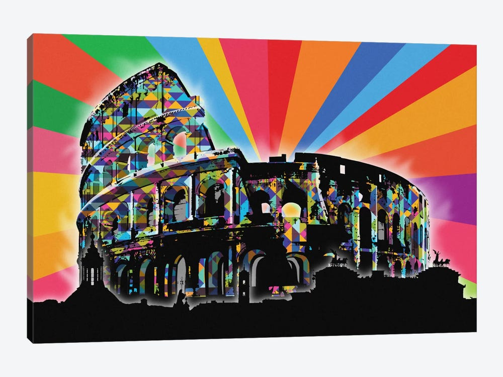 Rome Psychedelic Pop by 5by5collective 1-piece Art Print