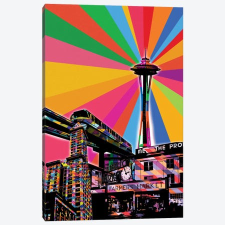 Seattle Psychedelic Pop Canvas Print #ICA672} by 5by5collective Art Print