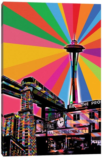 Seattle Psychedelic Pop Canvas Art Print
