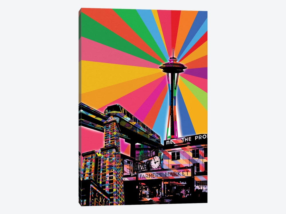 Seattle Psychedelic Pop by 5by5collective 1-piece Art Print
