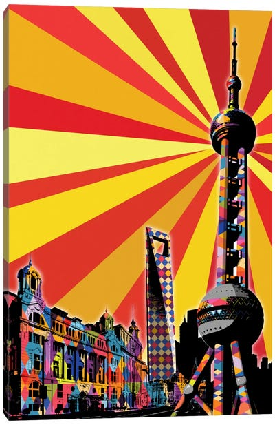 Shanghai Psychedelic Pop Canvas Art Print