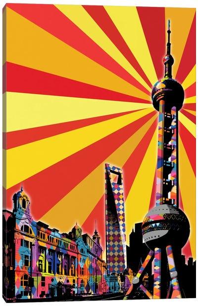 Shanghai Psychedelic Pop Canvas Art Print