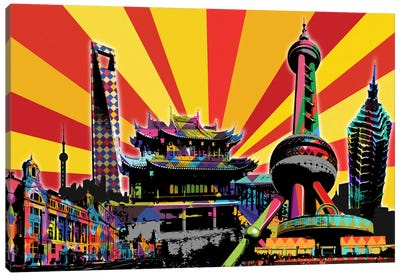 Shanghai Psychedelic Pop 2 Canvas Art Print