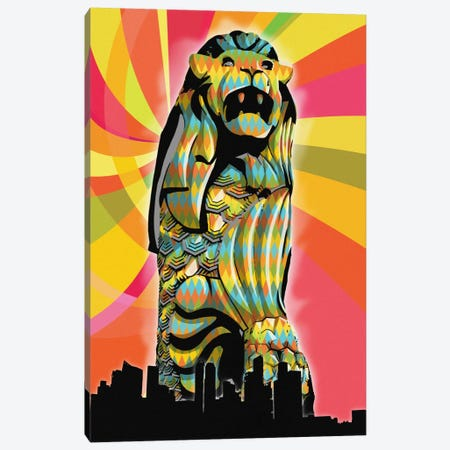 Singapore Psychedelic Pop Canvas Print #ICA675} by 5by5collective Canvas Wall Art