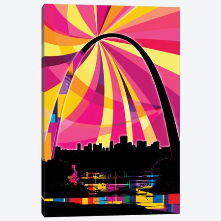 St. Louis Psychedelic Pop Canvas Print #ICA676} by 5by5collective Canvas Art