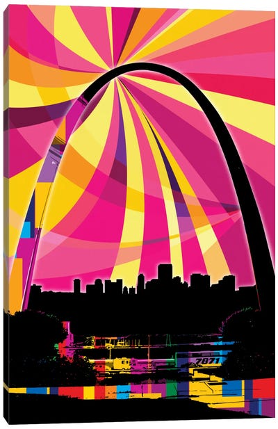 St. Louis Psychedelic Pop Canvas Art Print