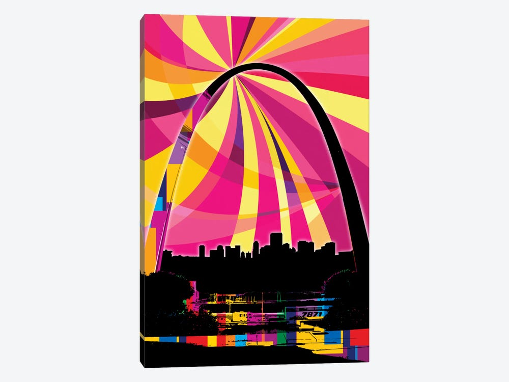 St. Louis Psychedelic Pop by 5by5collective 1-piece Canvas Print