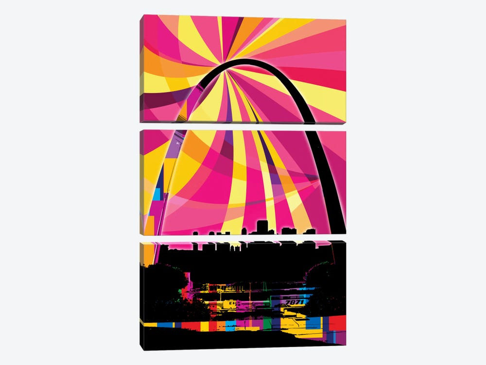 St. Louis Psychedelic Pop by 5by5collective 3-piece Art Print