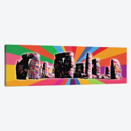 Stonehenge Psychedelic Pop Canvas Print #ICA677} by 5by5collective Canvas Art