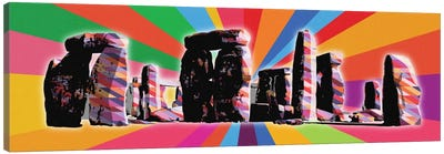 Stonehenge Psychedelic Pop Canvas Print #ICA677