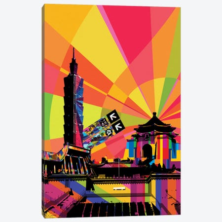 Taipei Psychedelic Pop Canvas Print #ICA678} by 5by5collective Art Print
