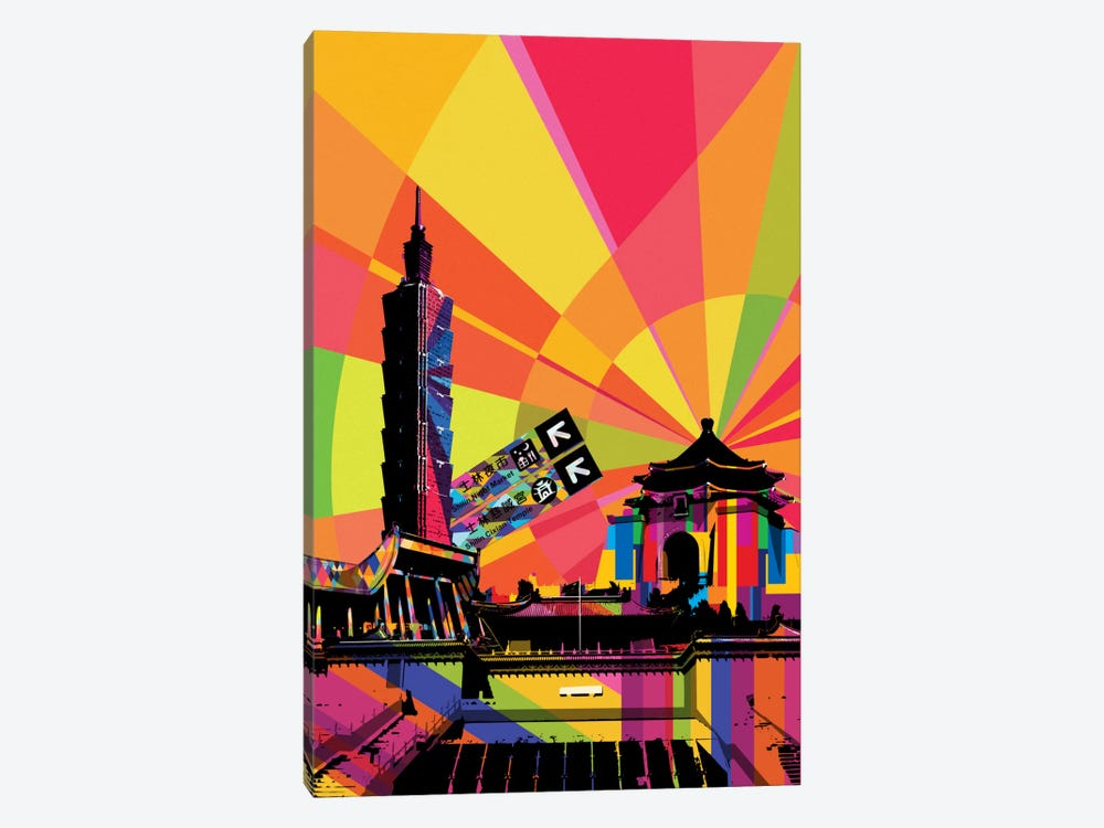 Taipei Psychedelic Pop by 5by5collective 1-piece Art Print