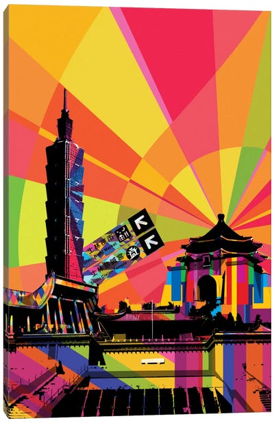 Taipei Psychedelic Pop Canvas Art Print