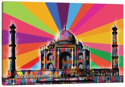 Taj Mahal Psychedelic Pop Canvas Art Print