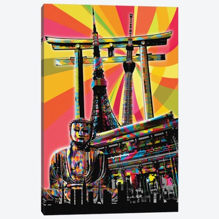 Tokyo Psychedelic Pop Canvas Print #ICA680} by 5by5collective Canvas Wall Art